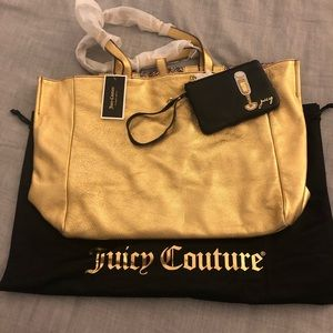 Gold Leather Reversible Juicy Couture Tote
